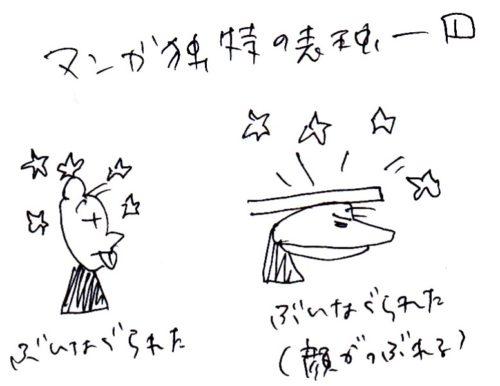 マンガ独特の表現のイラスト